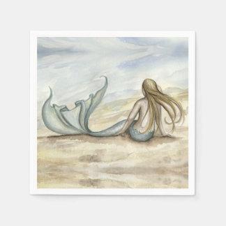 Camille Grimshaw Seaside Mermaid Napkins Disposable Serviettes
