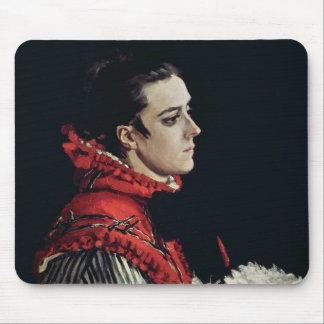 Camille Monet  in a Red Cape, 1866 Mouse Pad