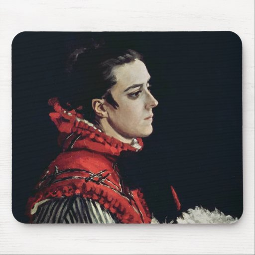 Camille Monet  in a Red Cape, 1866 Mousepad