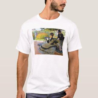 Camille Monet on a Garden Bench Claude Monet T-Shirt