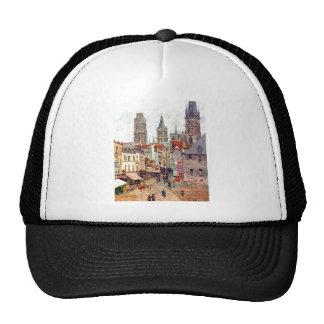 Camille Pissarro - 1898 Grocery Rue Rouen Oil Hat