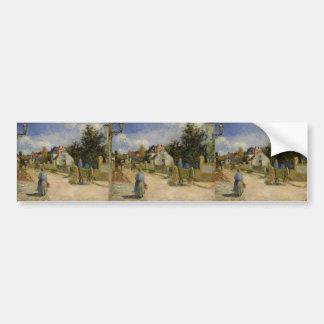 Camille Pissarro- A Street in Pontoise Bumper Sticker