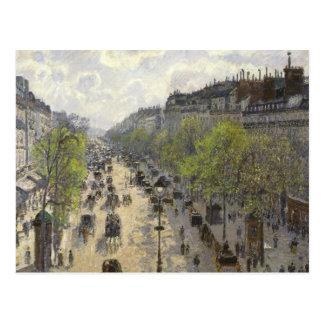 Camille Pissarro - Boulevard Montmartre, Spring Postcard