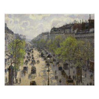 Camille Pissarro - Boulevard Montmartre, Spring Poster