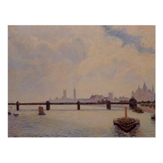 Camille Pissarro- Charing Cross Bridge, London Postcard