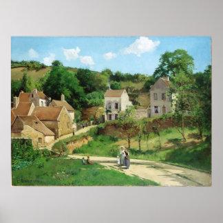 Camille Pissarro - Hermitage Pontoise 1867 Oil Poster