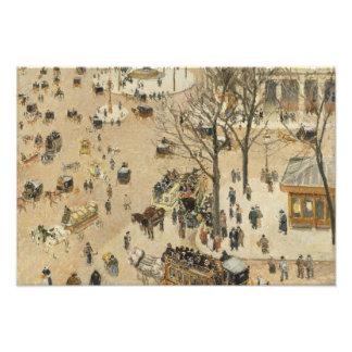 Camille Pissarro - La Place due Theatre Francais Photo