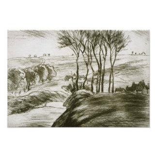 Camille Pissarro - Landscape Near Osny (State II) Photographic Print