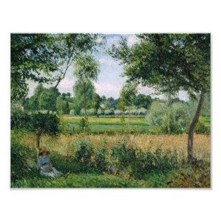 Camille Pissarro - Morning Sunlight Effect, Eragny Photograph