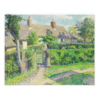 Camille Pissarro - Peasants' houses, Eragny Photographic Print
