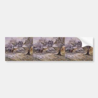Camille Pissarro- Snow at Montfoucault Bumper Stickers