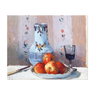 Camille Pissarro Still Life with Apples Pitcher Canvas Print