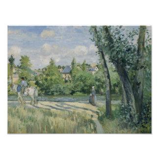 Camille Pissarro - Sunlight on the Road, Pontoise Art Photo