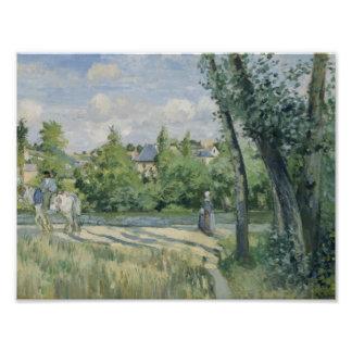Camille Pissarro - Sunlight on the Road, Pontoise Photo Print