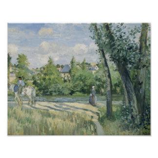 Camille Pissarro - Sunlight on the Road, Pontoise Photograph