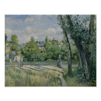 Camille Pissarro - Sunlight on the Road, Pontoise Poster