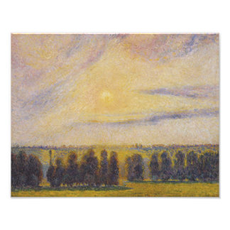 Camille Pissarro - Sunset at Eragny Photograph