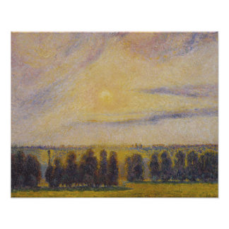 Camille Pissarro - Sunset at Eragny Poster