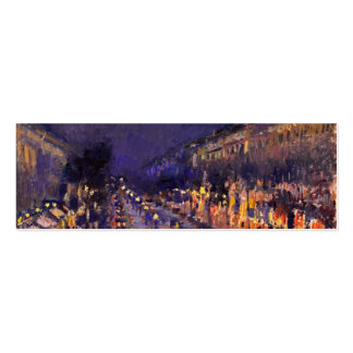 Camille Pissarro The Boulevard Montmartre At Night Business Card Templates