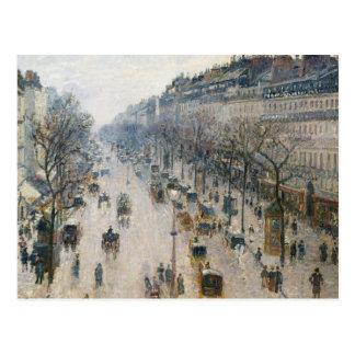 Camille Pissarro - The Boulevard Montmartre Postcard