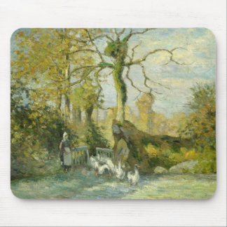 Camille Pissarro - The Goose Girl at Montfoucault Mouse Pad