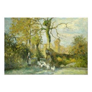 Camille Pissarro - The Goose Girl at Montfoucault Photo