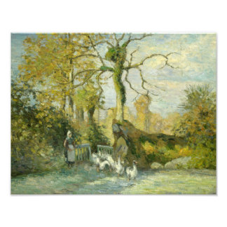 Camille Pissarro - The Goose Girl at Montfoucault Photograph