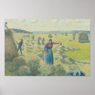 Camille Pissarro - The Harvesting of Hay, Eragny Poster