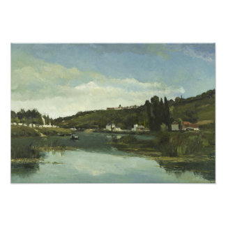 Camille Pissarro - The Marne at Chennevieres Photo Art