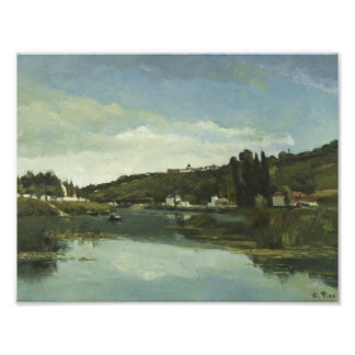 Camille Pissarro - The Marne at Chennevieres Photographic Print