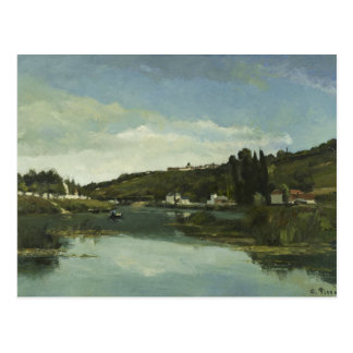 Camille Pissarro - The Marne at Chennevieres Postcard