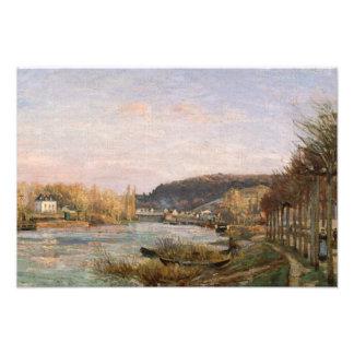 Camille Pissarro - The Seine at Bougival Art Photo