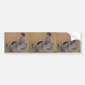 Camille Pissarro- Woman Sitting on the Floor Bumper Sticker