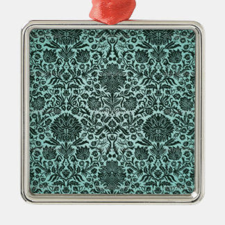 """""""Camille"""" Vintage Wall Paper Blue Ornament"""