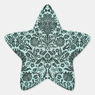 """Camille"" Vintage Wall Paper Blue Star Sticker"