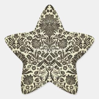 """Camille"" Vintage Wall Paper Star Sticker"