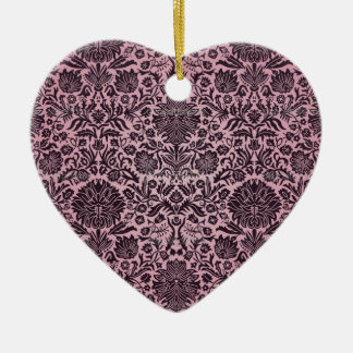 """""""Camille"""" Wall Paper Pink Ceramic Heart Decoration"""