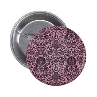 Camille Wall Paper Pink Pinback Button