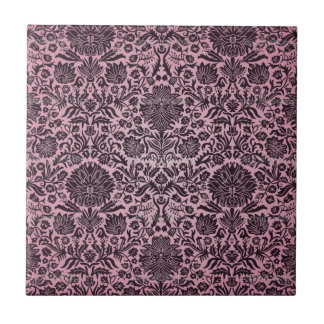 """Camille"" Wall Paper Pink Small Square Tile"