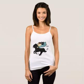 Camisole hippopotamus child black singlet