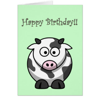 Cammy Cow Birthday Card