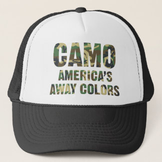 Camo America's Away Colors Trucker Hat