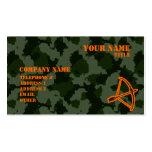 Camo Archery Business Card Template