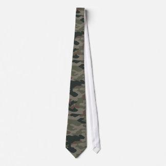 Camo Army Green Brown Black Silky Mens' Neck Tie