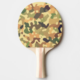 Camo Autumn Ping Pong Paddle