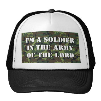 "Camo Background ""Soldier In The Army Of The LORD"" Cap"