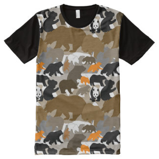 camo bear All-Over print T-Shirt