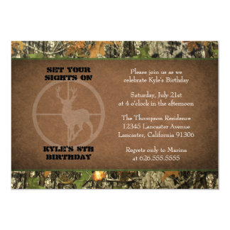 Camo Birthday Boy Invitations