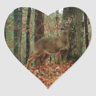 Camo Camouflage Deer Heart Sticker