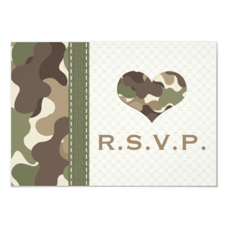 Camo Camouflage Heart RSVP Response Cards Announcements
